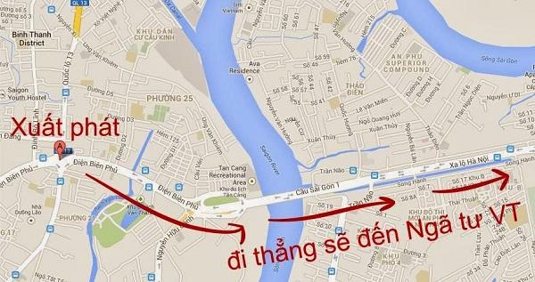 Đường đi Vũng Tàu bằng xe máy