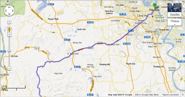 Hà Nội Mộc Châu bao nhiêu km