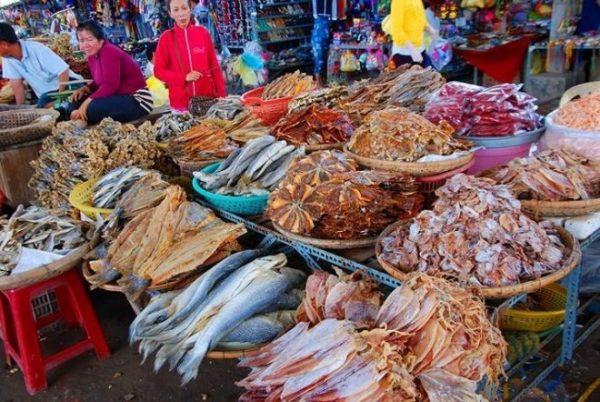 Các loại hải sản khô