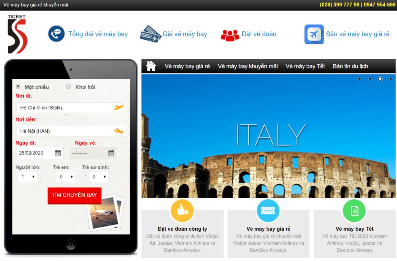 Truy cập vào Vemaybay5s.com giúp bạn dễ dàng săn được vé máy bay giá rẻ chỉ trong ít phút
